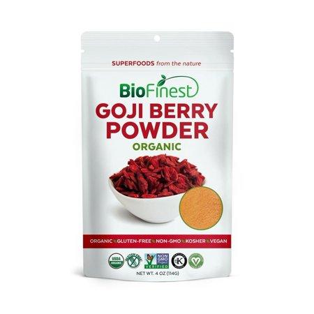 Biofinest Goji Berry Juice Powder - 100% Pure Freeze-Dried Antioxidants Superfood - USDA Certified Organic Kosher Vegan Raw Non-GMO - Boost Energy Eye Health - For Smoothie Beverage Blend (4 oz)