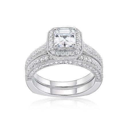 Brilliance Fine Jewelry Sterling Silver Simulated Diamond
