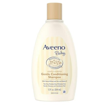 Aveeno Baby Gentle Conditioning Shampoo with Natural Oat, 12 fl oz Rainwater Baby Shampoo