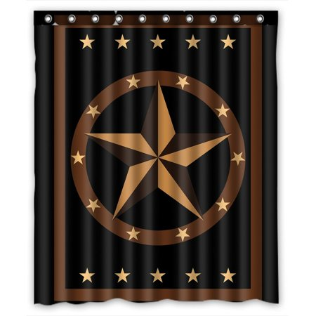 GCKG Texas Star Bathroom Shower Curtain, Shower Rings Included Polyester Waterproof Shower Curtain 66x72 inches - image 4 de 4