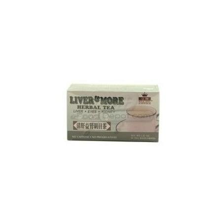 Liver & More Herbal Tea 20 Tea Bags Caffeine Free Liver Eyes and Kidney