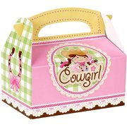 Pink Cowgirl Empty Favor Boxes, 4pk