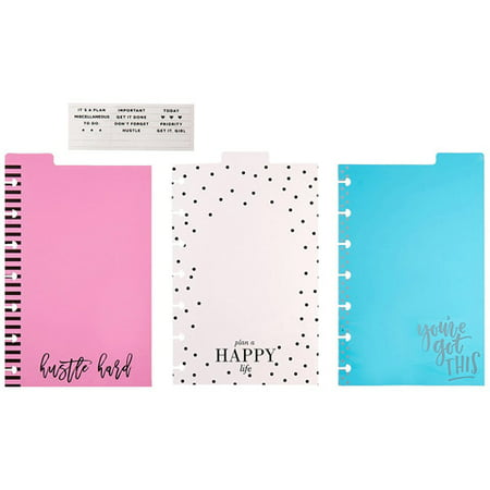 The Happy Planner Mini Dashboards: 4 Pieces