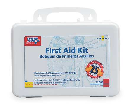 FIRST AID ONLY 223-G First Aid Kit, Bulk, White, 25 People by First Aid Only