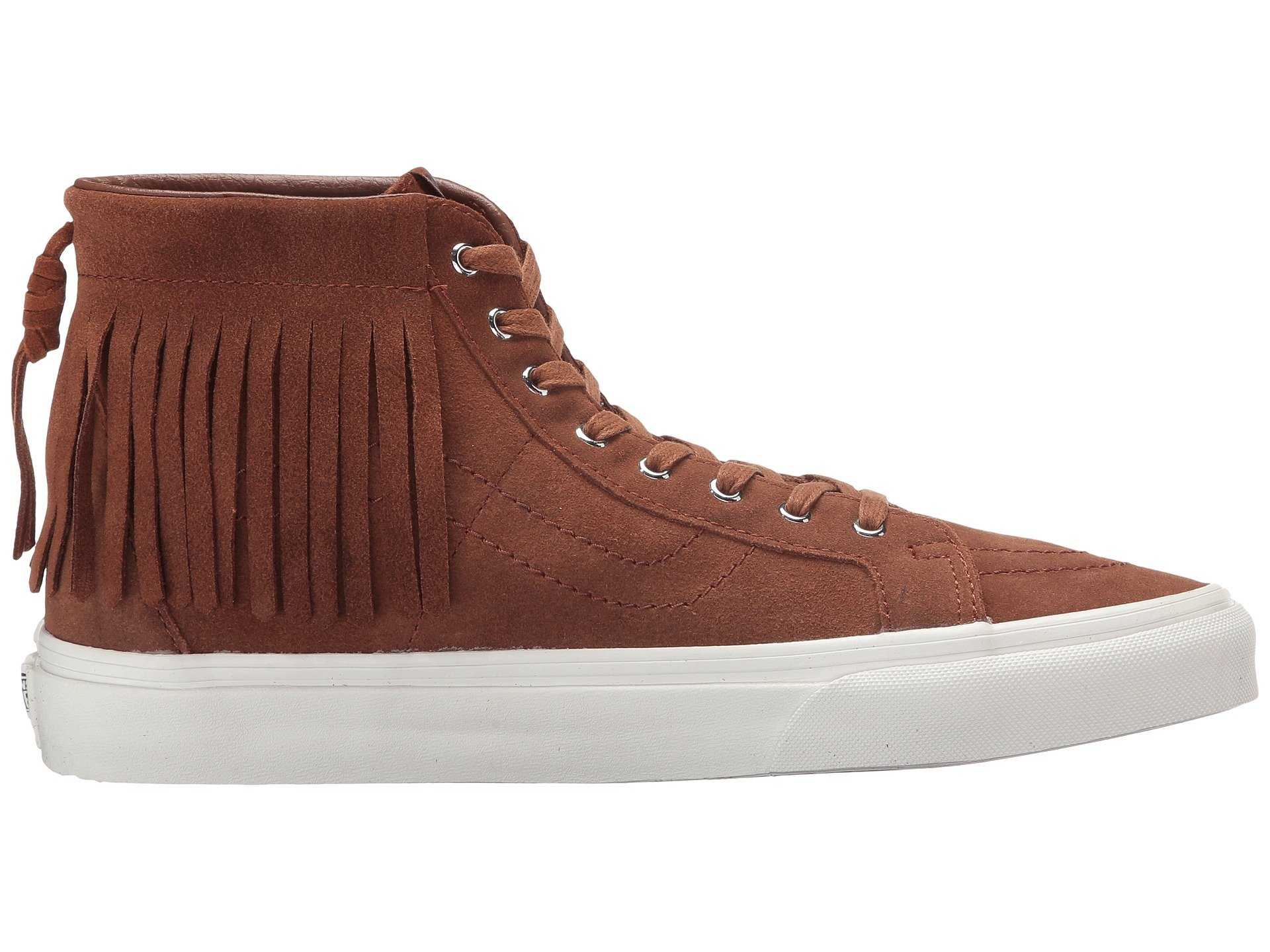 ebe44109ab Vans - Vans Sk8-Hi Moc Suede Monks Robe   Blanc De Ankle-High Fashion  Sneaker - 8.5M 7M - Walmart.com