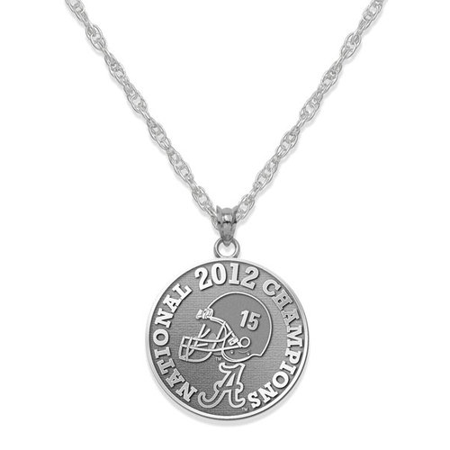 NCAA - Alabama Crimson Tide 2012 BCS National Champions Sterling Silver Necklace