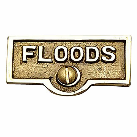 Switch Plate Tags FLOODS Name Signs Labels Lacquered Brass | Renovators Supply