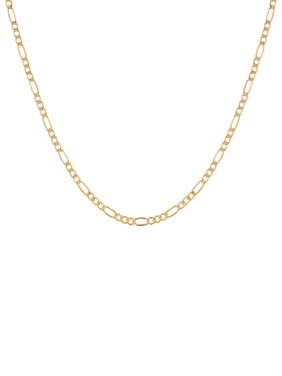 """Brilliance Fine Jewelry 10K Yellow Gold Polished Figaro Chain Necklace, 22"""""""