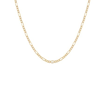 Bulldog Pendant 10kt Gold Jewelry (10KT Yellow Gold 4MM Figaro Chain, 22