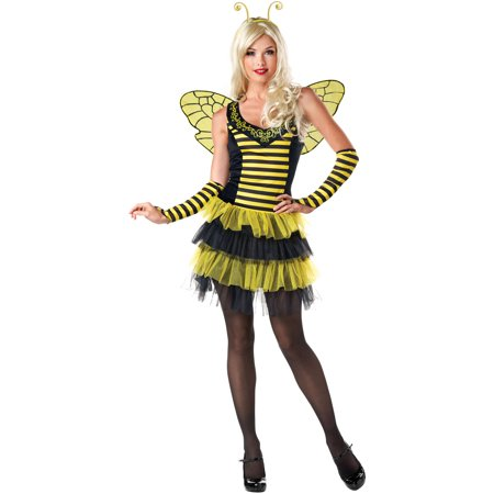 Flirty Bee Women's Adult Halloween Dress Up / Role Play Costume (Bands To Dress Up As For Halloween)