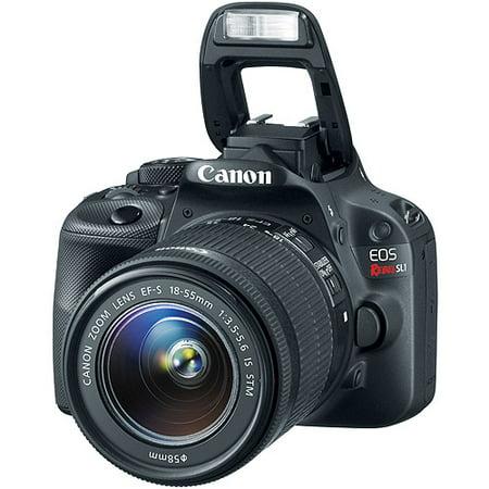 Canon Black EOS Rebel SL1 World's Smallest Digital SLR Camera with 18 Megapixels and 18-55mm Lens