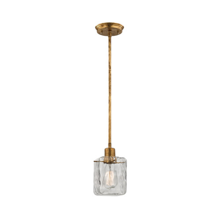 - Pendants 1 Light With Antique Gold Leaf Finish Clear Glass Medium Base 5 inch 60 Watts - World of Lamp