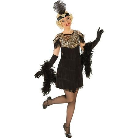 Womens Gold Flapper Halloween Costume