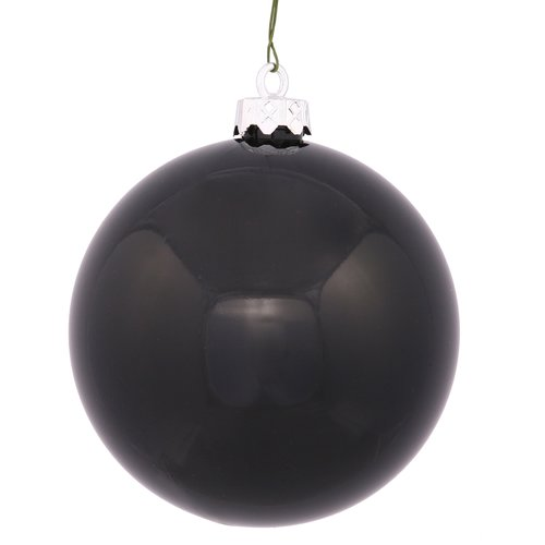 The Holiday Aisle UV Drilled Shiny Ball Ornament (Set of 12)