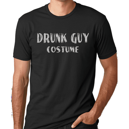 Think Out Loud Apparel Drunk Guy Costume Funny Halloween T-shirt Humor Tee shirt