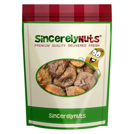 Sincerely Nuts Organic Turkish Figs, 2 LB Bag (Chocolate Herbal Figs)