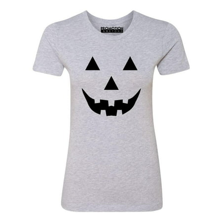 P&B Jack O Lantern Pumpkin Face Funny Halloween Women's T-shirt, S, H. Grey](Tomorrow Is Halloween Funny)