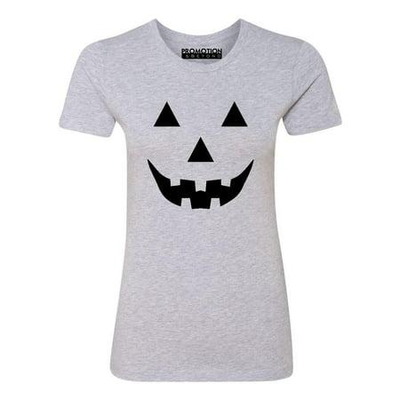 P&B Jack O Lantern Pumpkin Face Funny Halloween Women's T-shirt, S, H. (Women's Halloween Tee)