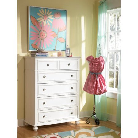 Madison 5 Drawer Chest Natural White Walmart Com