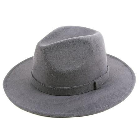 302fe3dbef3b33 POP Fashionwear Classic Wide Brim Fedora Hat - Walmart.com