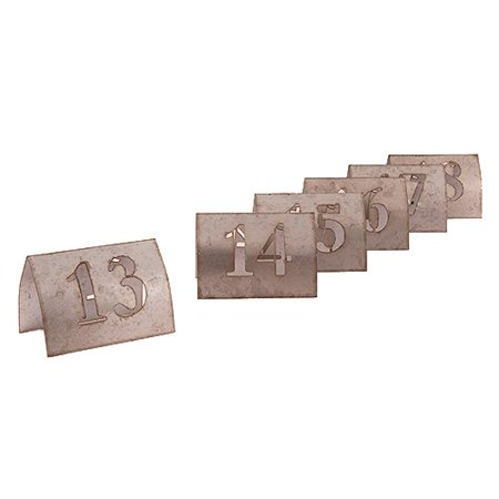 Laser Cut Metal Table Number Set, 13-18