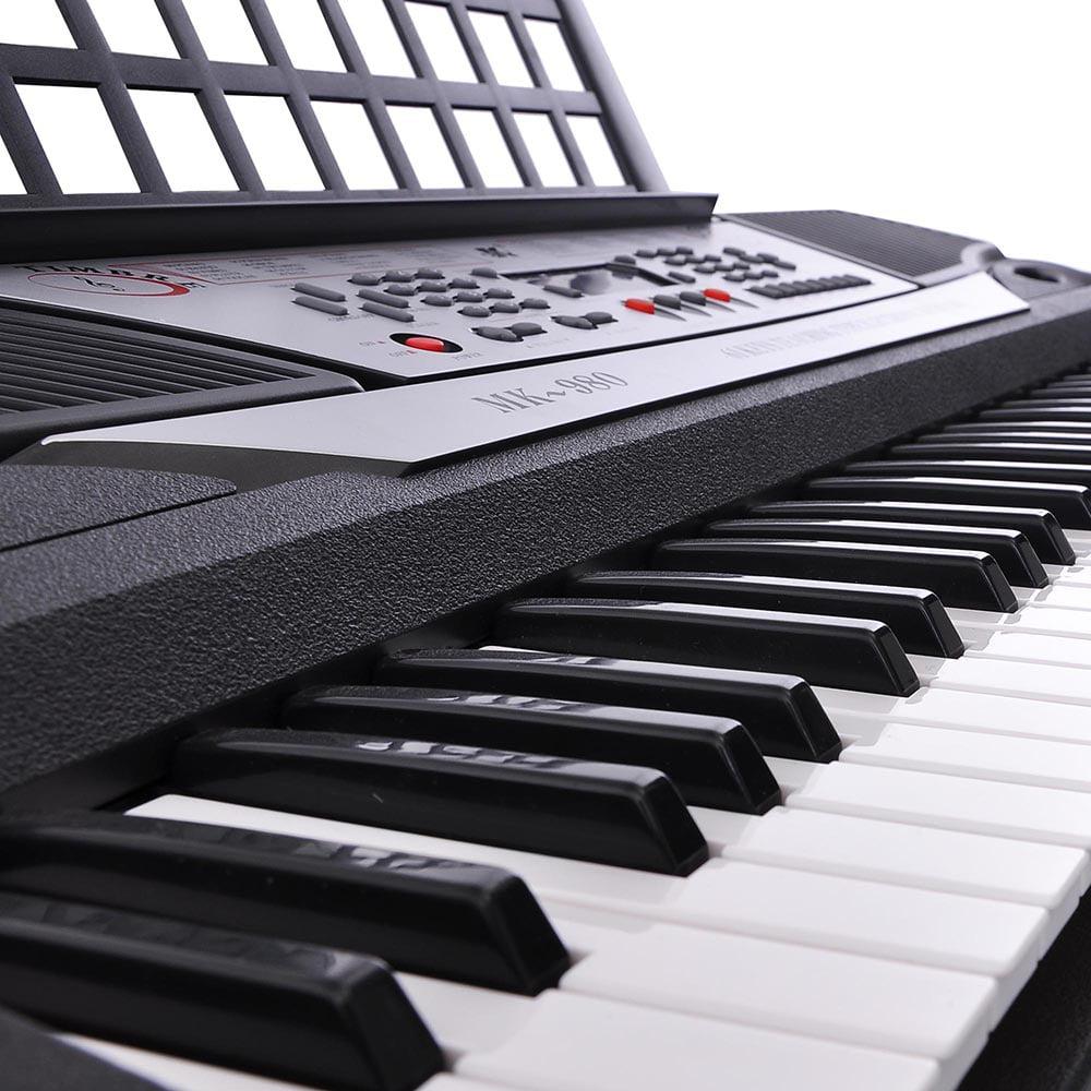 "Black 61 Key LCD Display Electronic Keyboard 37"" Digital Electric Piano Personal Music Beginner EN71"
