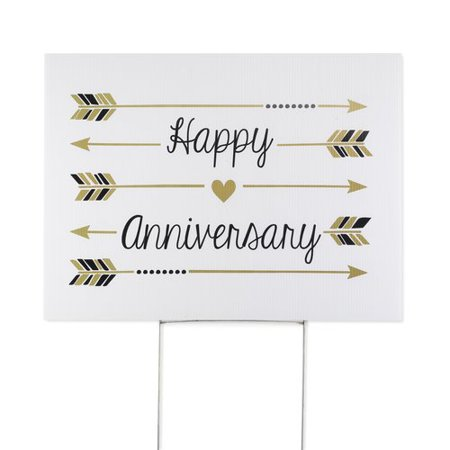 Le Prise Happy Anniversary Yard - Happy Anniversary Signs