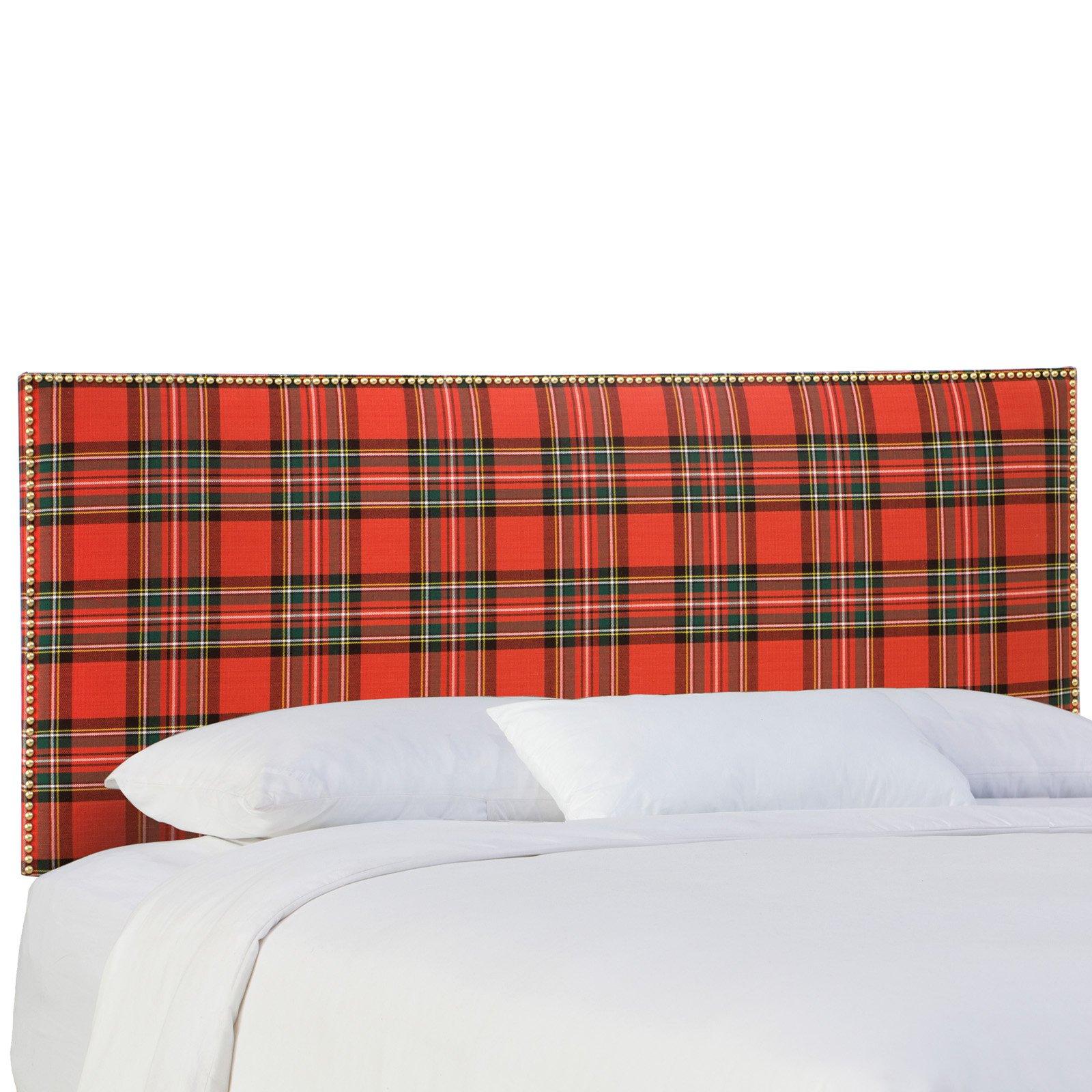 Skyline Furniture Nail Button Border Headboard - Ancient Stewart Red