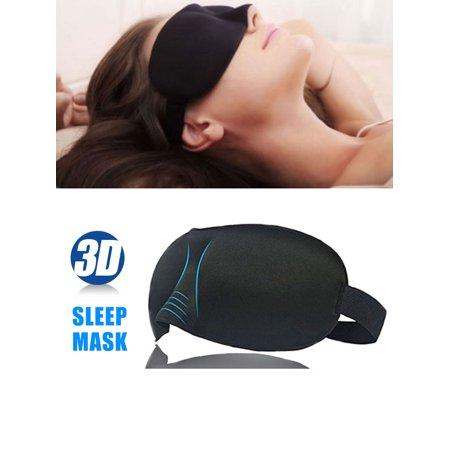Moen Plug - TSV Sleep Mask, Soft Contoured Eye Mask Blindfold with Adjustable Strap for Men & Women, Sleep mask and Ear Plugs Set for Travel Nap Shift Work Meditation (Black)