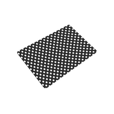 YUSDECOR Girly Polka Dots in Black and White Doormat Rug Home Decor Floor Mat Bath Mat 23.6x15.7 inch - image 2 of 3