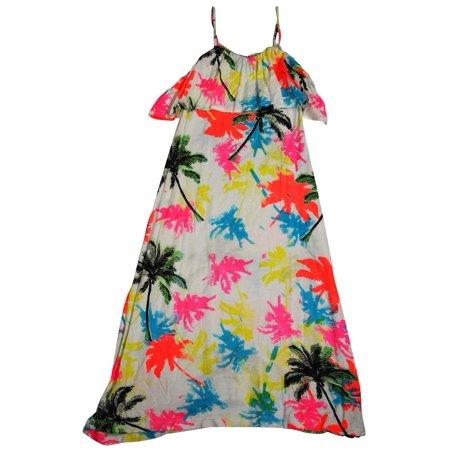 Flowers by Zoe - Girls Tank Maxi Dress - 100% Rayon Multicolor / 5