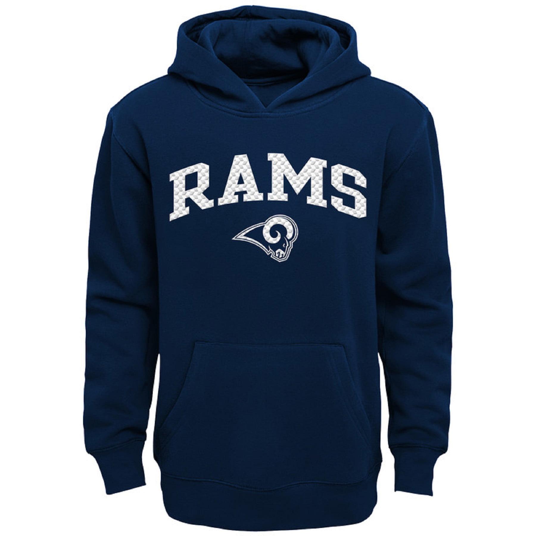Youth Navy Los Angeles Rams Clear Gel Fleece Hoodie