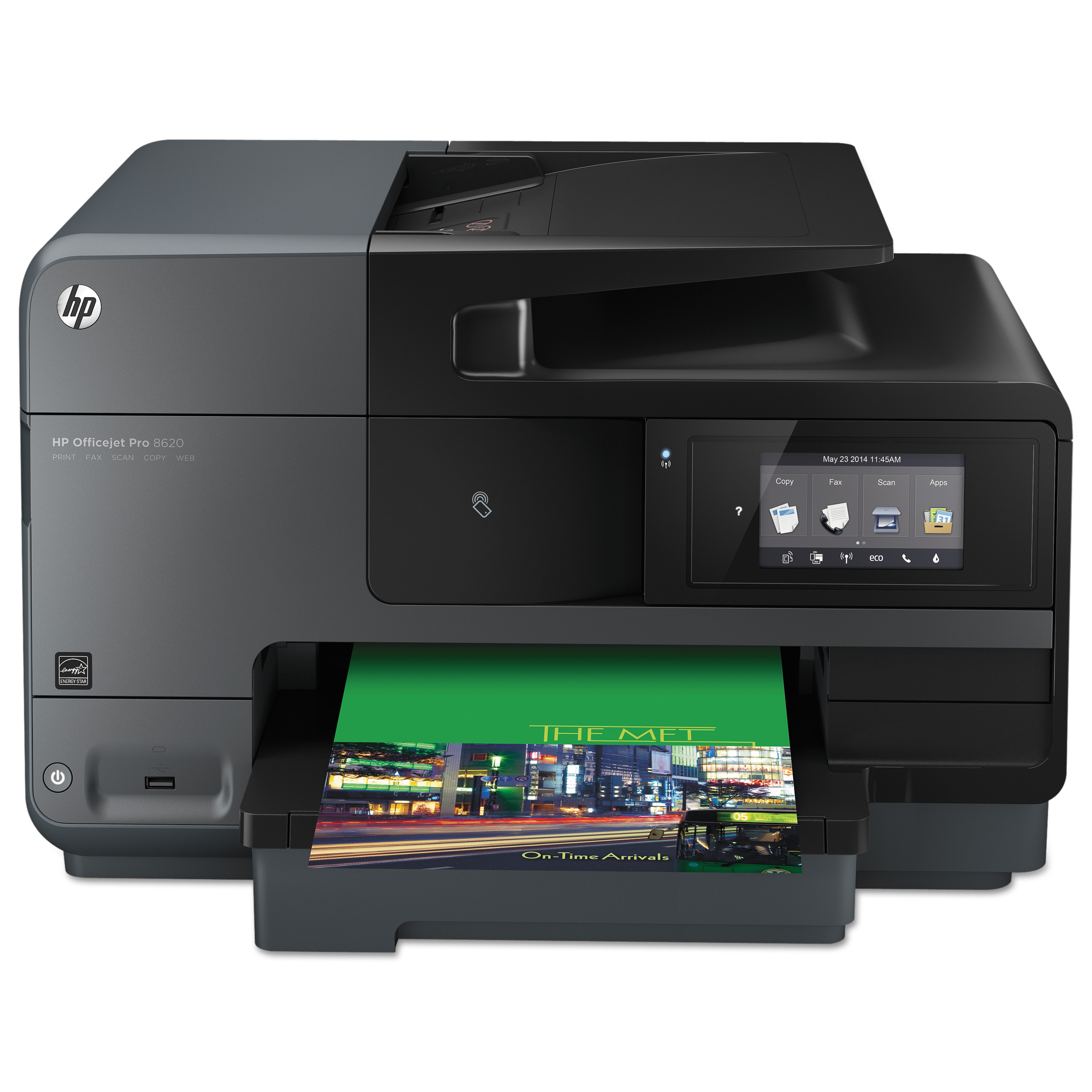 HP Officejet Pro 8620 e-All-in-One Wireless Inkjet Printer, Copy/Fax/Print/Scan