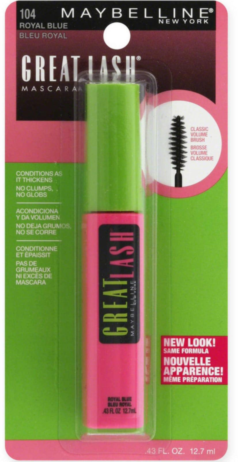 11818543788 2 Pack - Maybelline Great Lash Washable Mascara, Royal Blue [104] 0.43 oz -  Walmart.com