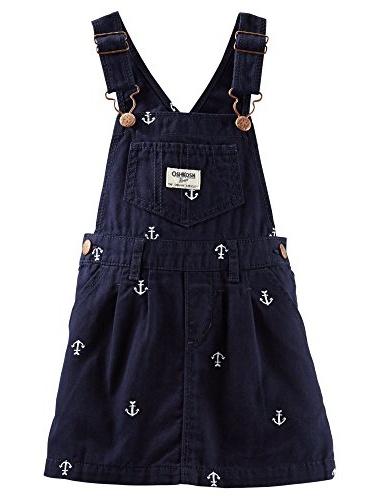 OshKosh B'Gosh Baby Girls' Ocean Charm Overall Skirt (Navy)