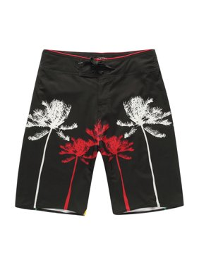 958ff8ead6 Product Image Men's Beach Wear Board Shorts with Pocket in Black and Palm  Prints 36