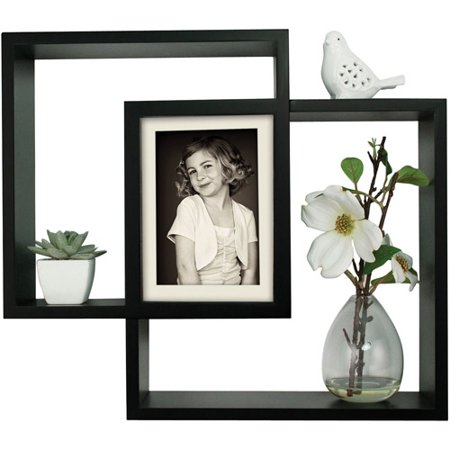 Pinnacle Frame Intersection Small Shadowbox  Black