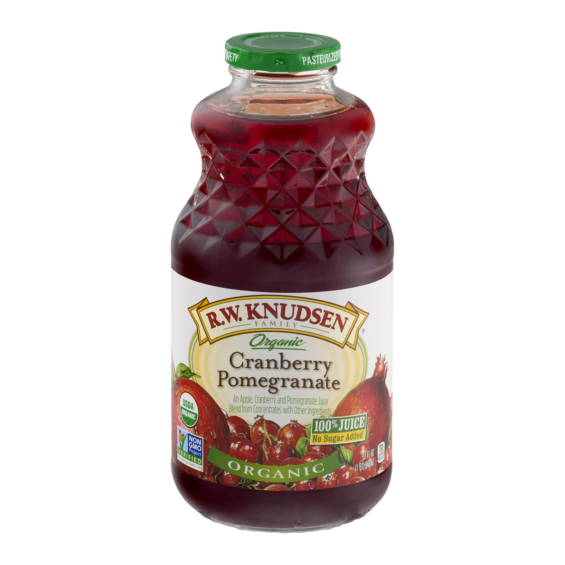 R.W. Knudsen Family Organic Juice, Cranberry Pomegranate, 32 Fl Oz, 1 Count