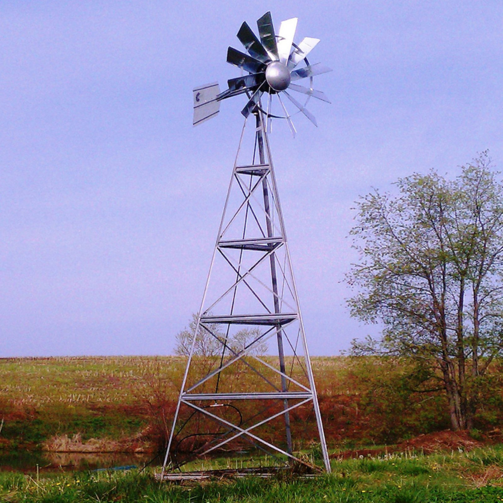 Deluxe 20 ft. 3 Legged Underwater Aeration Windmill System by Outdoor Water Solutions