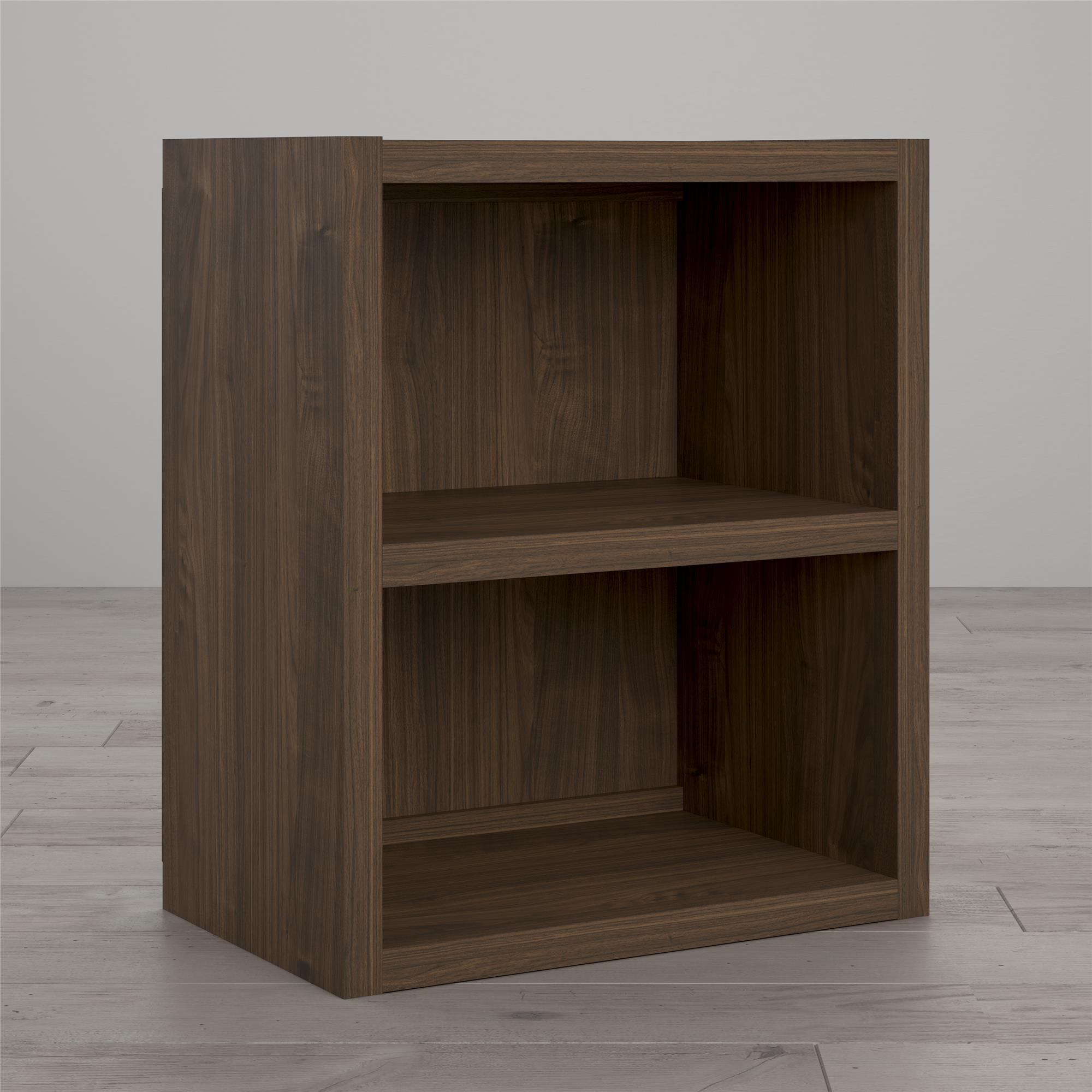 Little Seeds Sierra Ridge Terra Modular Bookcase Cubby, Walnut