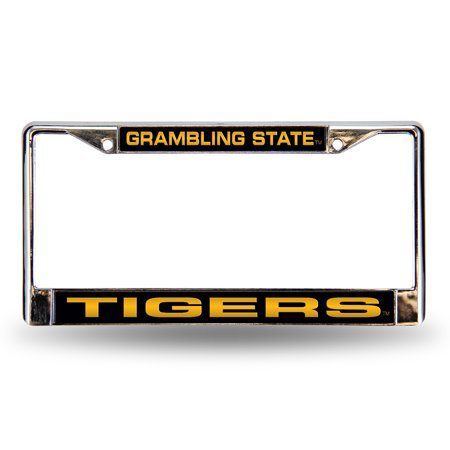 Grambling Tigers NCAA Chrome Laser Cut License Plate (Tigers License Plate Frame)