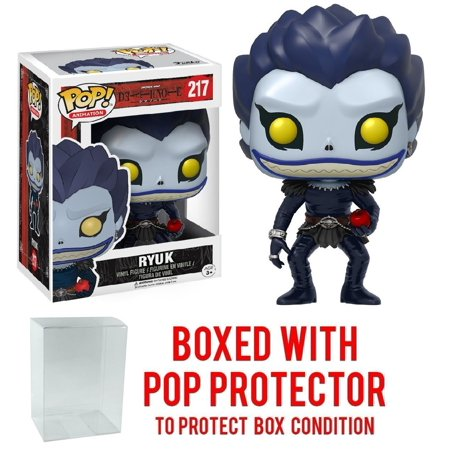 Funko Pop! Anime: Death Note - Ryuk Vinyl Figure (Bundled with Pop BOX PROTECTOR CASE), Bundled Plastic Box Protector with the collector in mind (Removable Film) By Pop