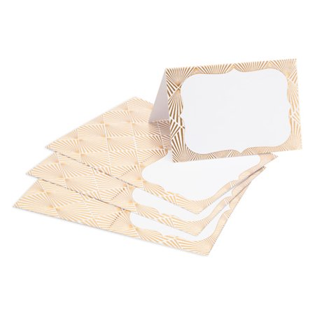 David Tutera Gold Place Cards: Geo, 5 x 3.8 inches, 25 pack](Rustic Place Cards)