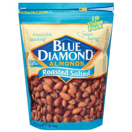Blue Diamond Almonds Roasted Salted  16 0 Oz
