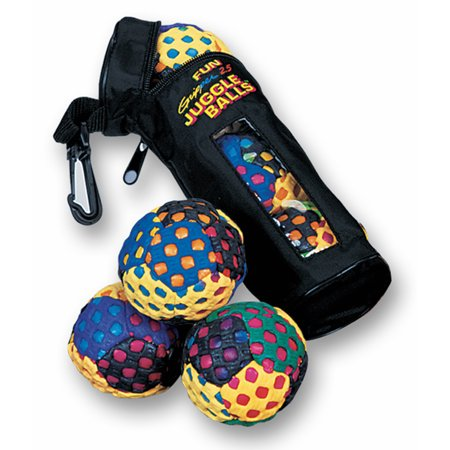 Fun Gripper Juggle Ball Set 3 Pc with Case By: Saturnian 1
