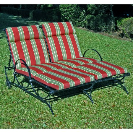 Blazing Needles 48 x 72 in. Outdoor Double Chaise Lounge Cushion - Set of 2 ()