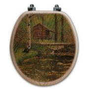 WGI-GALLERY Autumn Hideaway Oak Round Toilet Seat