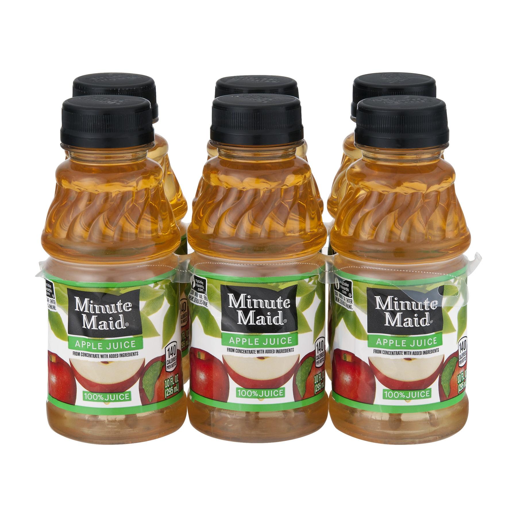 Minute Maid 100% Juice, Apple, 10 Fl Oz, 6 Count