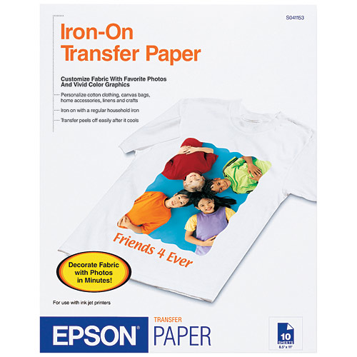 graphic about Printable Iron Ons known as Epson Iron-Upon Great Peel Go Paper, 8.5\
