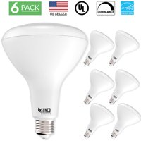 Sunco Lighting 6 Pack BR40 LED Light Bulb 17 Watt (100 Equivalent) 4000K Kelvin Cool White 1400 Lumens, 25,000 Hours, Flood Dimmable Indoor / Outdoor, Home, Office And More - UL & ENERGY STAR LISTED